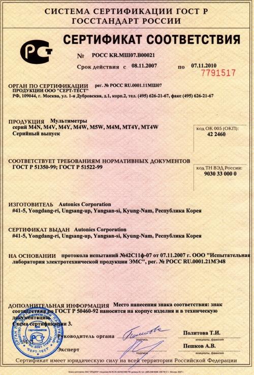 Подтверждение соответствия в ГОСТ Р (сертификат)